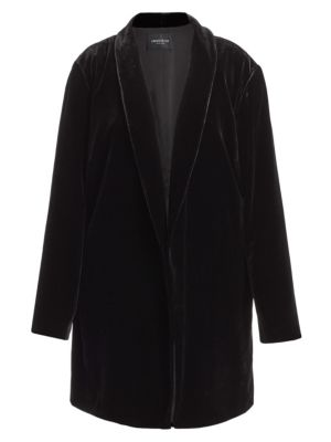 Cecily Velvet Long Jacket