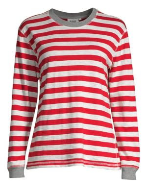 SLEEPY JONES | Helen Cotton Stripe Top | Goxip