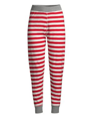 SLEEPY JONES | Helen Cotton Stripe Leggings | Goxip