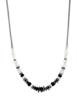 Classic Chain Crystals & Sterling Silver Necklace