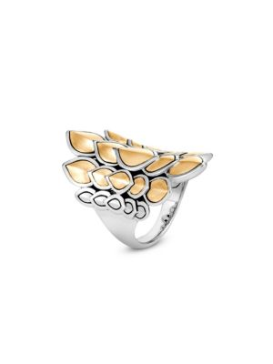 Legends 18K Yellow Gold & Silver Naga Ring