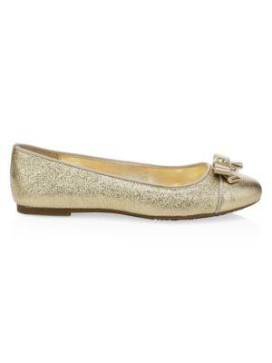 Alice Metallic Leather Ballet Flats