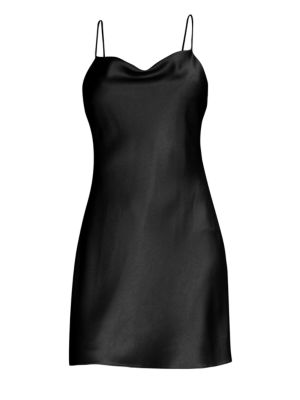 Harmony Satin Mini Slip Dress