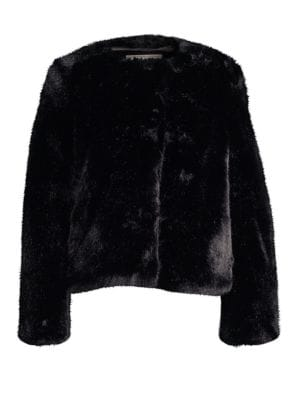 MILLY Boxy Faux-Fur Jacket