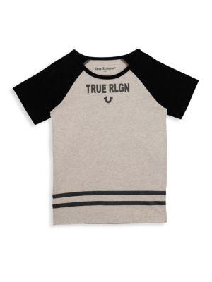 Little Boy's & Boy's Branded Logo Tee