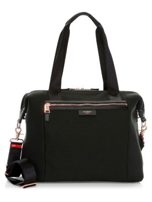 STORKSAK Stevie Nylon Diaper Bag in Black