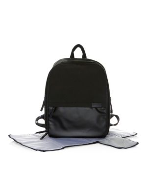 STORKSAK Taylor Ultra-Tech Canvas Diaper Bag in Black