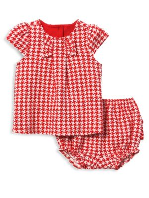 Baby Girl's Houndstooth Check Set