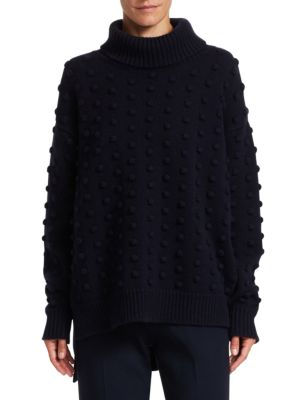 Resort Wool & Cashmere Dotted Turtleneck Sweater