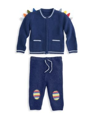 Baby Boy's Dylan The Dino Two-Piece Playsuit