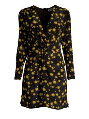 DELFI COLLECTIVE | Frankie Sun Print Long Sleeve Mini Dress | Goxip