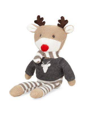 Reindeer Knit Plush Toy
