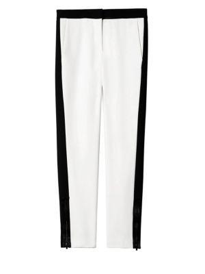 Anson Stretch Tuxedo Pants, Ivory Multi