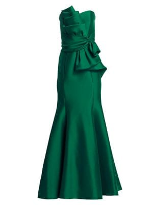 BADGLEY MISCHKA | Strapless Bow Front Gown | Goxip