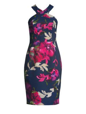Jazzy Ace Floral Halterneck Dress