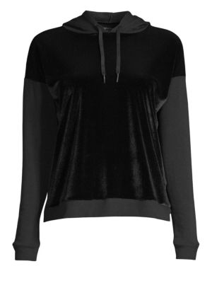 BEYOND YOGA | Shine On Velvet Faced Pullover Sweater | Goxip