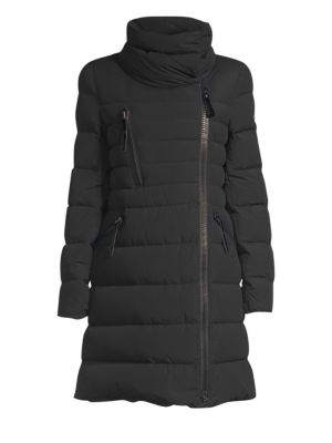 POST CARD Post Card Katanec Down Fill Quilted Coat in Nero