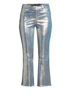 Selena Mid-Rise Cropped Boot Cut Pants