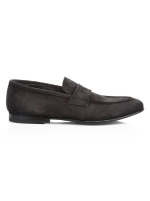 Enzo Suede Penny Loafers