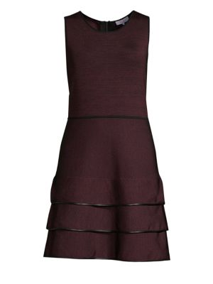 Sondra Ruffled Flare Knit Dress