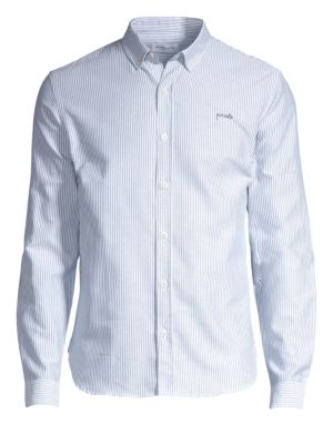 Slim-Fit Button-Down Cotton Shirt
