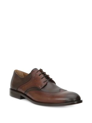 Salvatore Leather Wingtip Dress Shoes