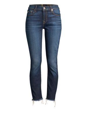 Roxanne Frayed Hem Ankle Jeans