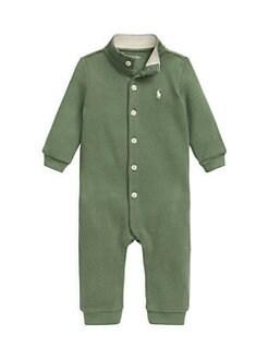폴로 랄프로렌 남아용 아기 커버올 우주복 Polo Ralph Lauren Babys Solid Interlock Coverall