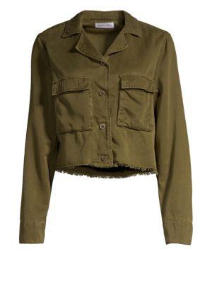 BELLA DAHL | Cropped Military Jacket | Goxip