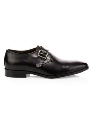 Vitello Leather Monk Shoes