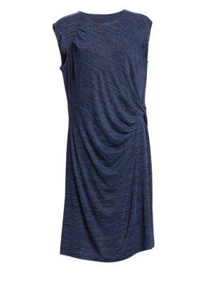 Sleeveless Twist Shift Dress