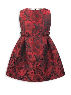Baby's, Little Girl's & Girl's Jacquard Floral Dress