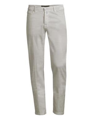 Five-Pocket Linen-Blend Pants