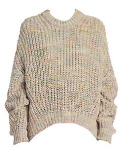 아크네 스튜디오 Acne Studios Zora Oversize Rib-Knit Sweater,Pale Grey Multi
