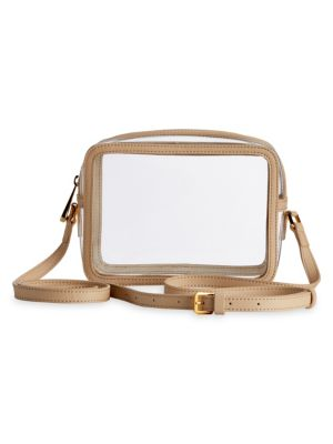 Game Day Gigi x Collins Tuohy Smith Leather-Trim Translucent Crossbody Bag