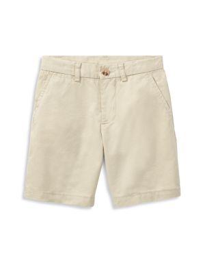 Boy's Flat Front Chino Shorts