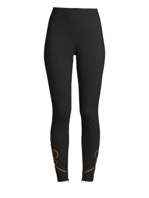 Soutache Straight Pants