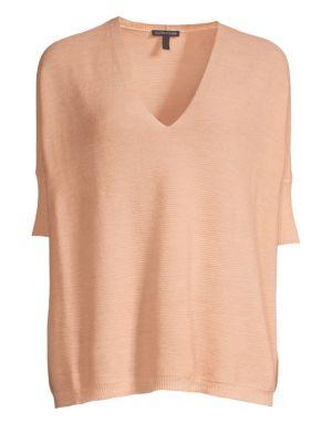Short-Sleeve Merino Wool Sweater