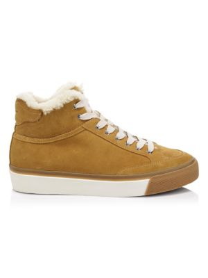 RB Army High Flocked Suede Platform Sneakers