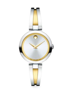 Aleena Stainless Steel Two-Tone Bangle Bracelet Watch