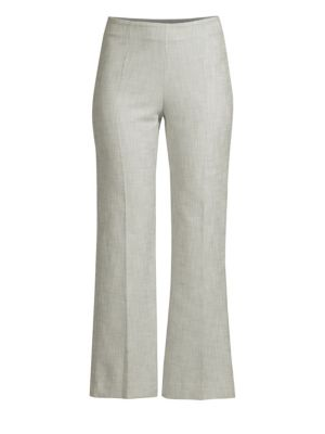 Textured Wide-Leg Cropped Pants