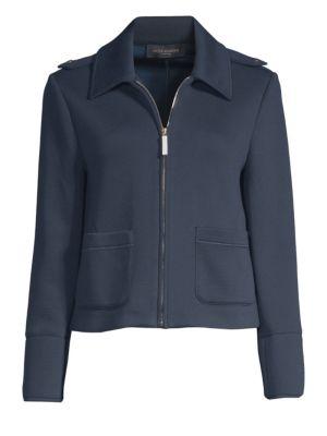 Scuba Jersey Cropped Jacket