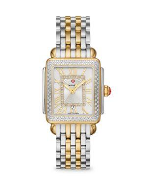 Deco Madison Mid Two-Tone 148 Diamond Bracelet Watch