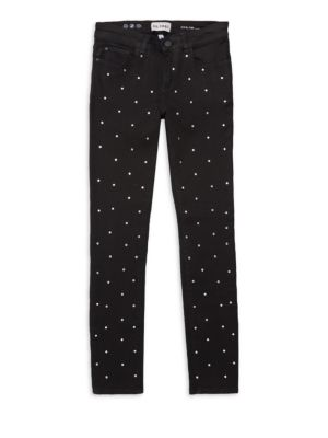 Girl's Chloe Superstar 8 Studded Skinny Jeans
