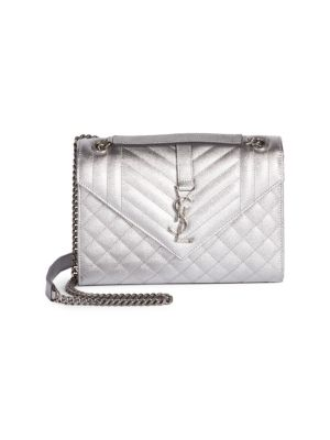 Medium Tri-Quilted Leather Envelope Shoulder Bag