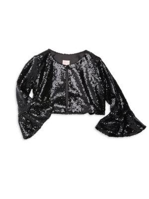 Girl's Sofi Sequin Bell Sleeve Top
