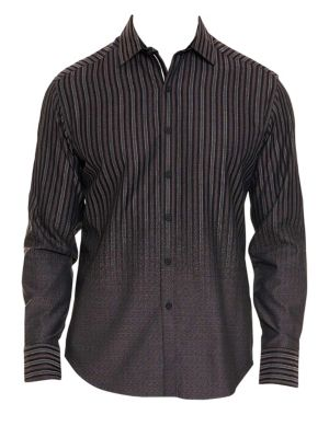 Gordon Faded Stripe Button-Down Shirt