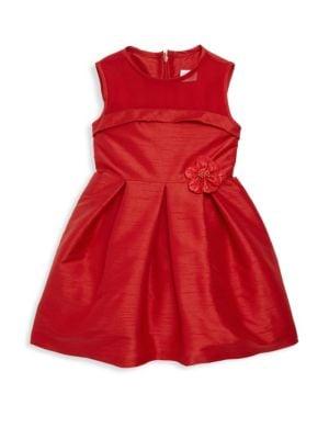 Little Girl's Silk Fit-&-Flare Dress