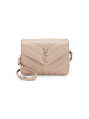Toy Lou Lou Quilted Leather Crossbody Bag in Natural