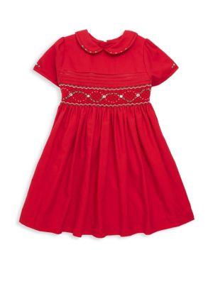 Little Girl's Smocked Fit-&-Flare Dress